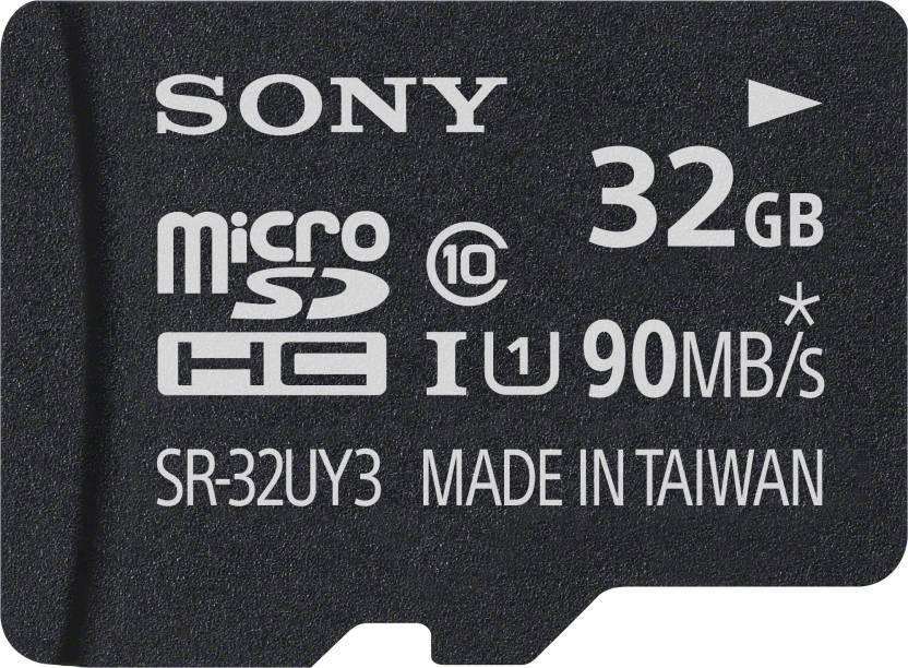 Sony SR-32UY3A 32 GB MicroSD Card Class 10 90 MB/s Memory Card at Flipkart ₹499