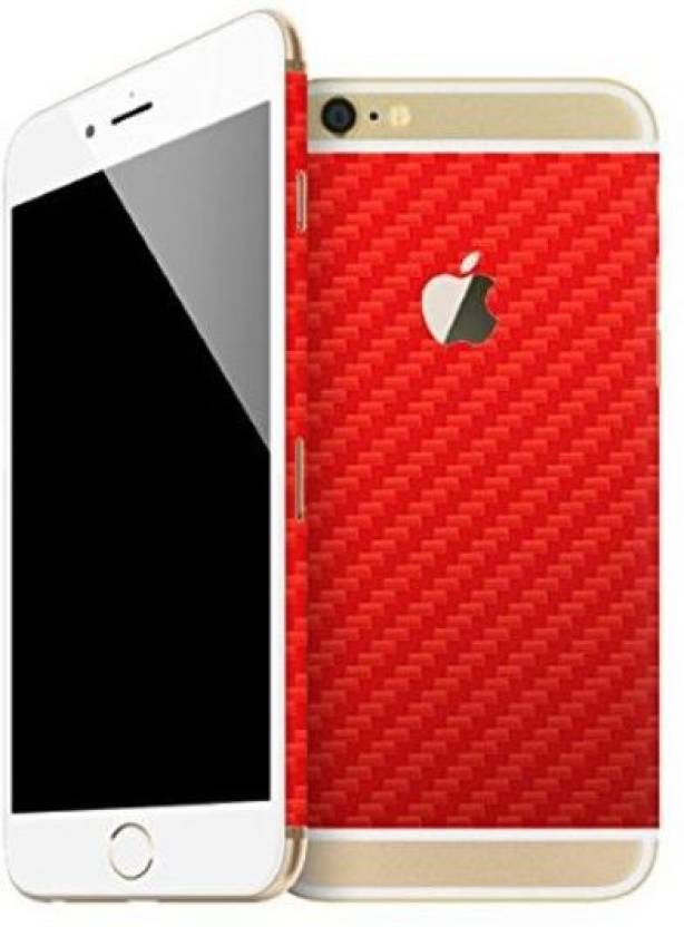 new style 8727f fbaf0 GadGets Wrap Carbon Red Back Split Mobile Skin for Apple iPhone 6S ...