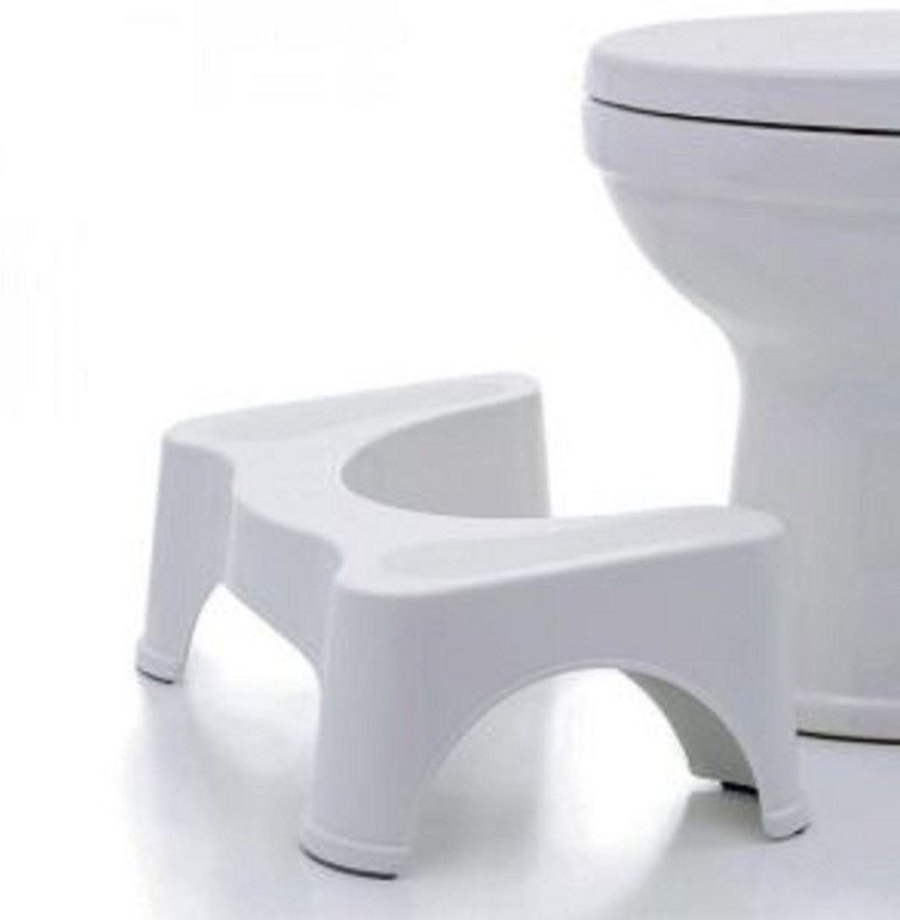 Toilet Stool Step Natural Position Squatty Potty Constipation Aid Piles Relief