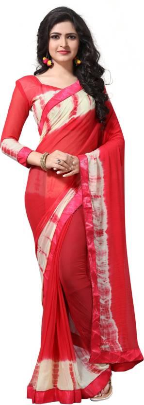 5da59be3e09ac Buy Pratham Blue Self Design Bollywood Georgette Pink Sarees Online ...