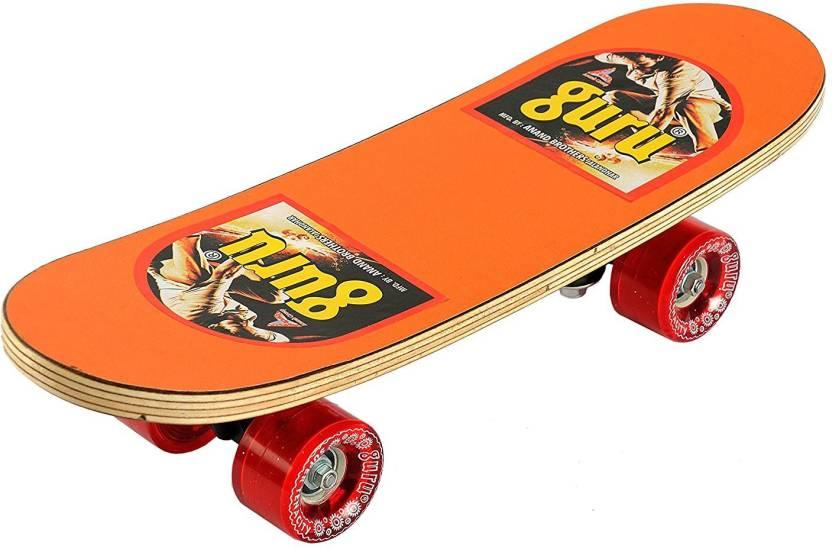 Mahalaxmi Gift Shop Skateboard (Orange) 6 inch x 24 inch