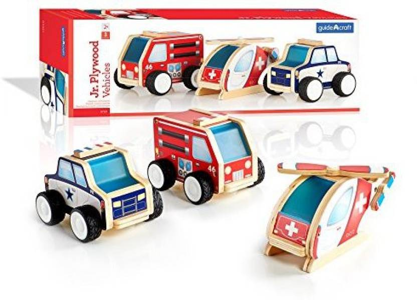 b2bc383b5a Generic Guidecraft Jr Plywood Community Vehicles - Fire Truck ...