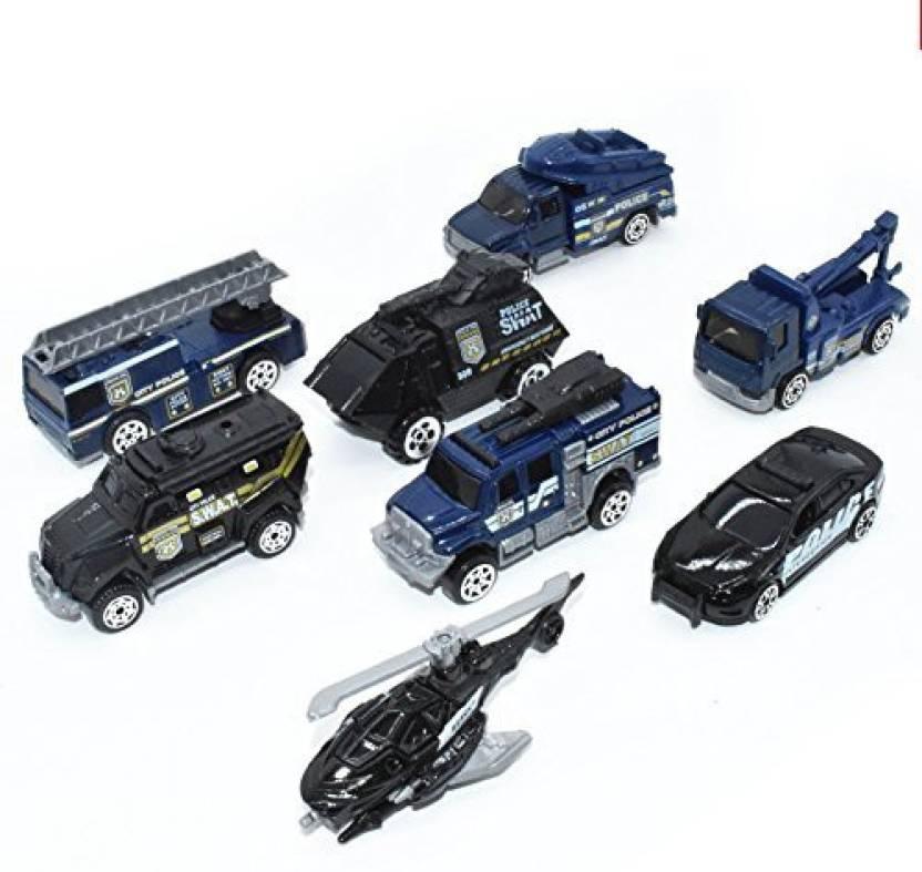 Generic Police Car Toy 5 Pcs Police Pickup Truck Push Car Toys