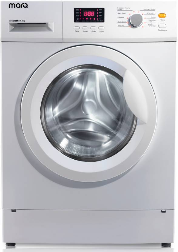 MarQ by Flipkart 6.5 kg Fully Automatic Front Load Washing Machine White  (MQFLXI65)#JustHere at Flipkart ₹16,499