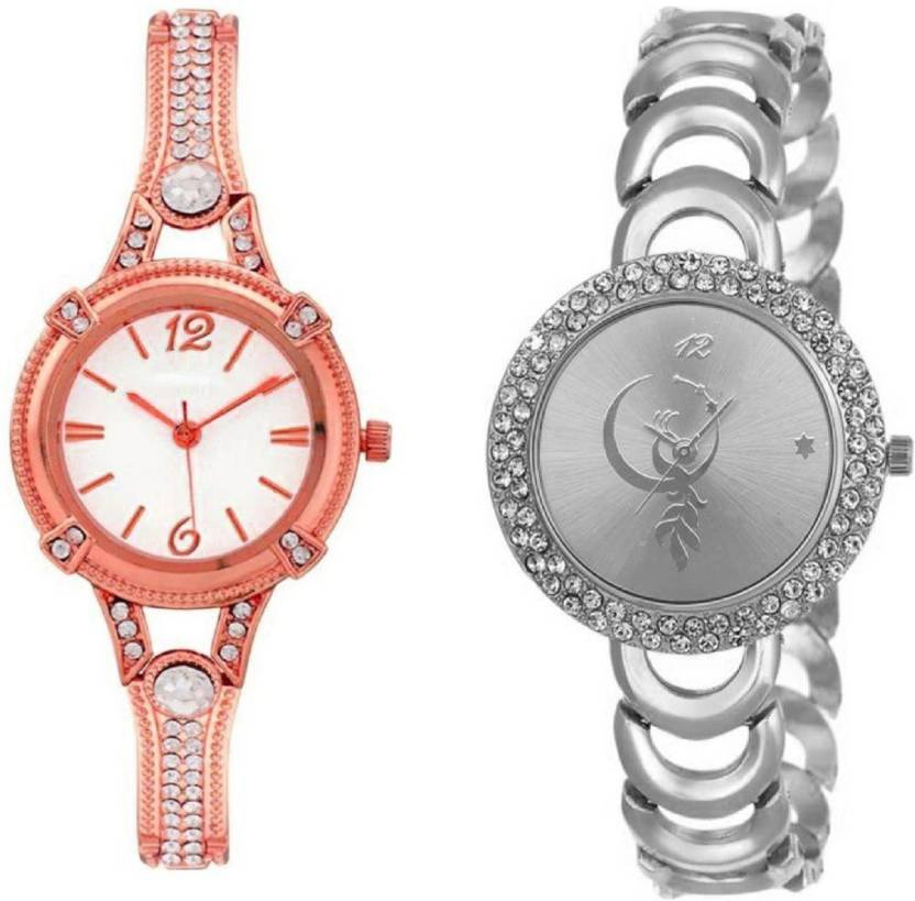 50b3717735c Lifetime combo of two new attractive rosegold and silver metal belt girl  wrist watch for girls watches and women watches Watch - For Women - Buy  Lifetime ...