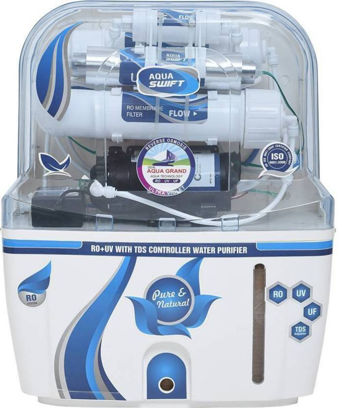 db7ee95dc6c Aquagrand AQUA SWIFT BL RO UV UF TDS CONTROLLER WITH 14 STAGE 10 L RO + UV  + UF + TDS Water Purifier (Multicolor)