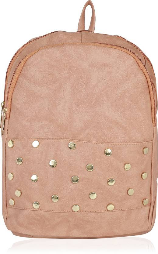 bbb3c80f075674 Kleio Designer Studded Backpack for Women / Girls 12 L Backpack Pink ...