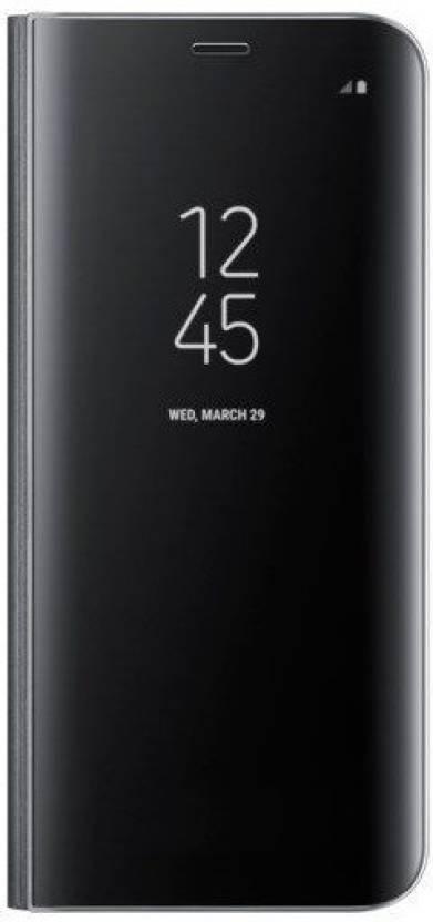 promo code 10536 69baa TECHCARE Flip Cover for Samsung Galaxy J8/A6+ Mirror S-View ...