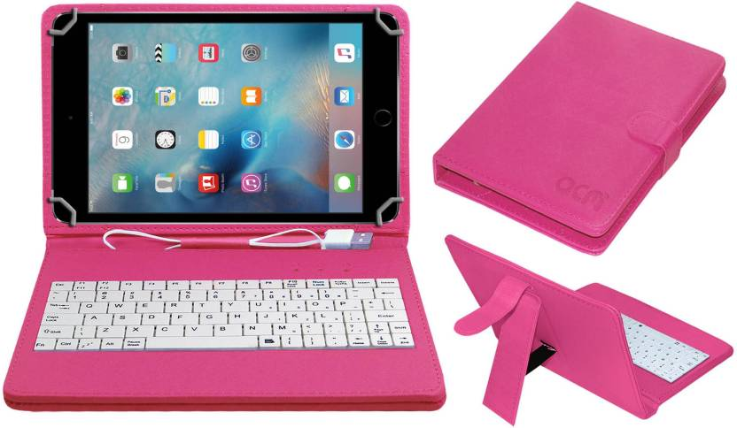 ACM Keyboard Case for Apple Ipad Mini 4 7.9 Inch Pink, Cases with Holder