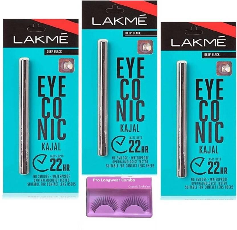 d200f63b0 Pro longwear combo Eyelashes, Eyeconic Deep Black Kajal Set Of 3 (Set of 4)