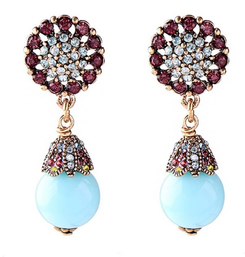 c352939a8730 Flipkart.com - Buy Bling Bag Bling Style Kristen Drop Earrings Crystal  Alloy Drop Earring Online at Best Prices in India