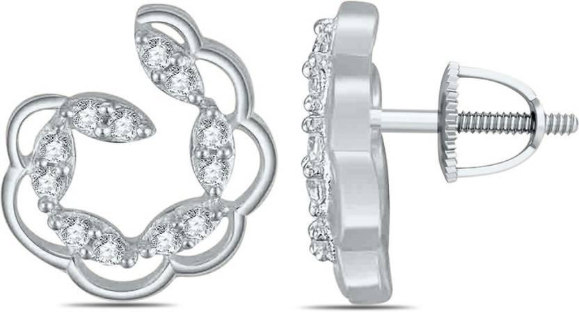 12f0934aa Flipkart.com - Buy SilverDew New Model Fancy Design Earring For Women's  Cubic Zirconia Sterling Silver Stud Earring Online at Best Prices in India
