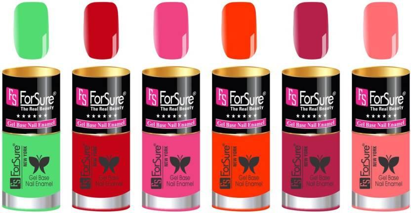 FORSURE matte finish Color Show Party Girl Nail Paint, Gel