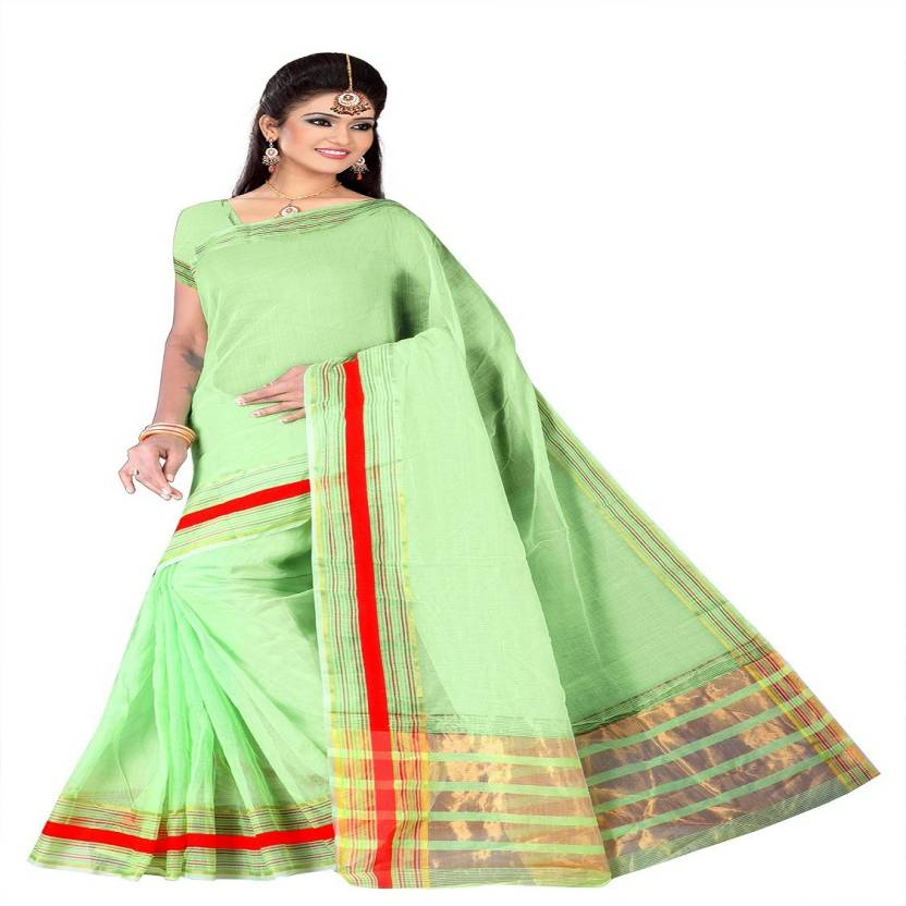 df342e061 Buy Harshit creation Solid Fashion Net Green Sarees Online   Best ...