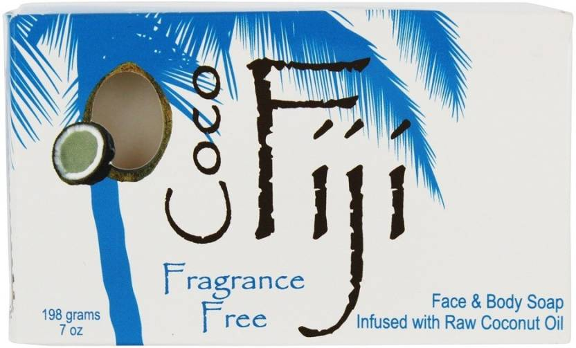 Coco Fiji Face And Body Coconut Oil Bar Soap Fragrance Free