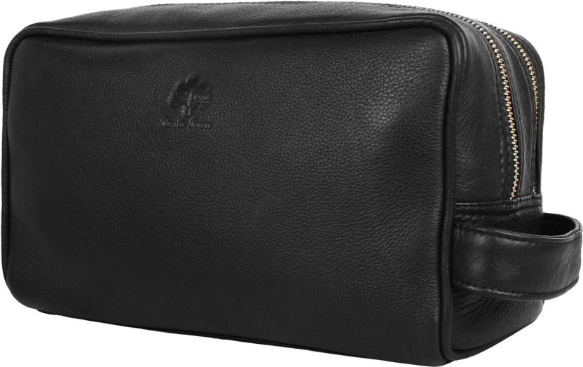 84f5d9a6ee76 Rustic Town Genuine Leather Travel Toiletry Bag - Dopp Kit Organizer Shaving  and Grooming Kit for Travel - Gift for Men Women Travel Toiletry Kit (Black)