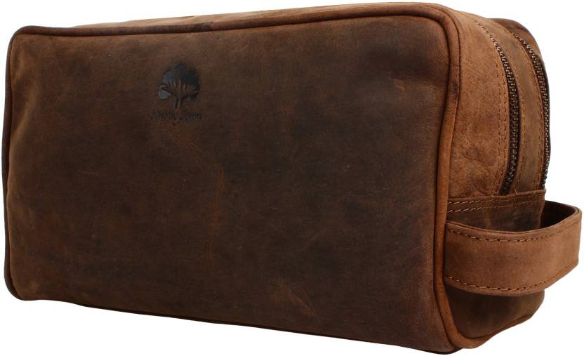 702046008b Rustic Town Genuine Leather Travel Toiletry Bag - Dopp Kit Organizer  Shaving and Grooming Kit for