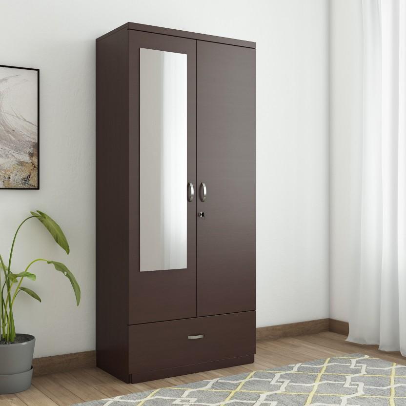 HomeTown Utsav Engineered Wood 2 Door Wardrobe