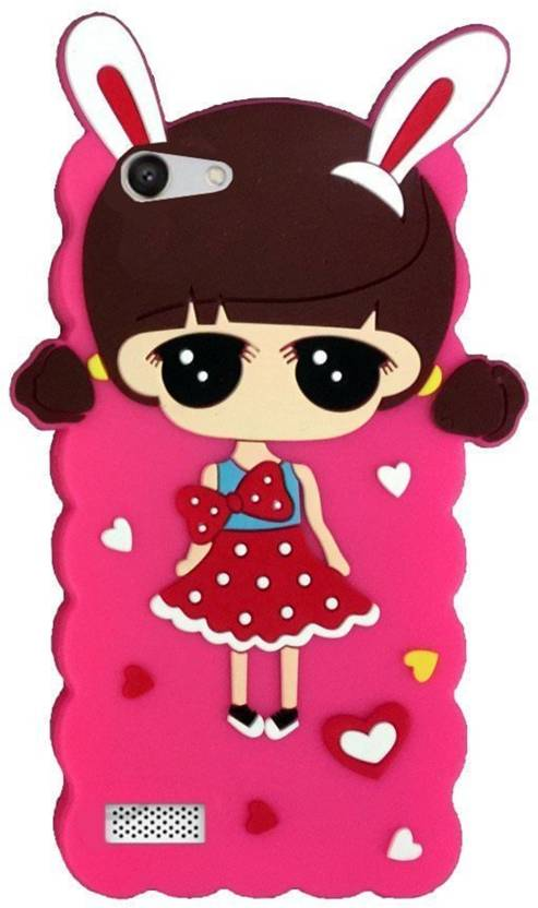 a2a0e791b Dream2Cool Back Cover for Cute Makeup Doll Girls Hello Kitty Back Cover for  Oppo Neo 7 - Red & Pink (Multicolor, Shock Proof, Flexible Case)