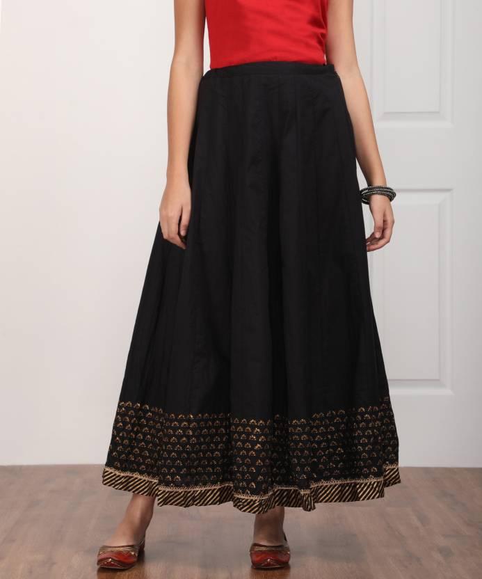 7f7112f42b Biba Solid, Printed Women's Regular Black Skirt - Buy BLACK Biba Solid,  Printed Women's Regular Black Skirt Online at Best Prices in India    Flipkart.com