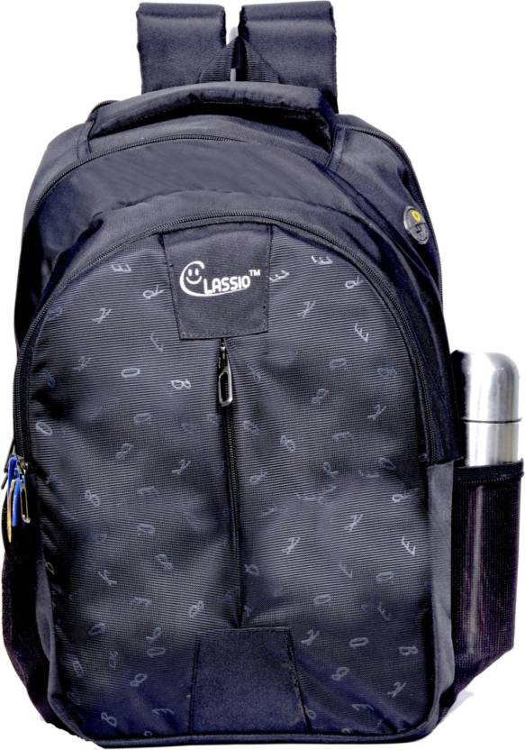45d5503f1ecb classio School Bags 32 ltr black 12cc Waterproof Backpack (Black