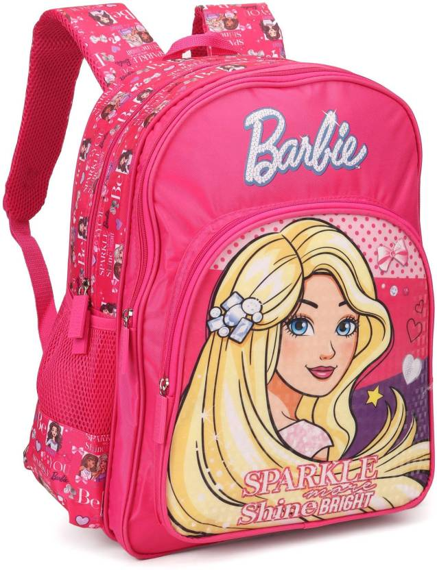 d24201232c Barbie Sparkle and Shine Pink 18    School Bag (Pink