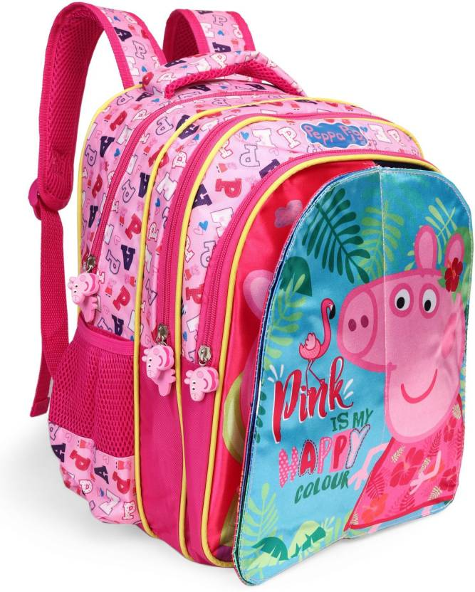 0b41cbcb92 Peppa Pig Pink Flap 14 inch Backpack (Pink