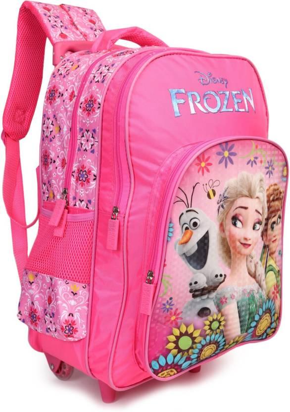 78c8b3734563 Disney Frozen Floral Pink 16 inch School Bag (Pink