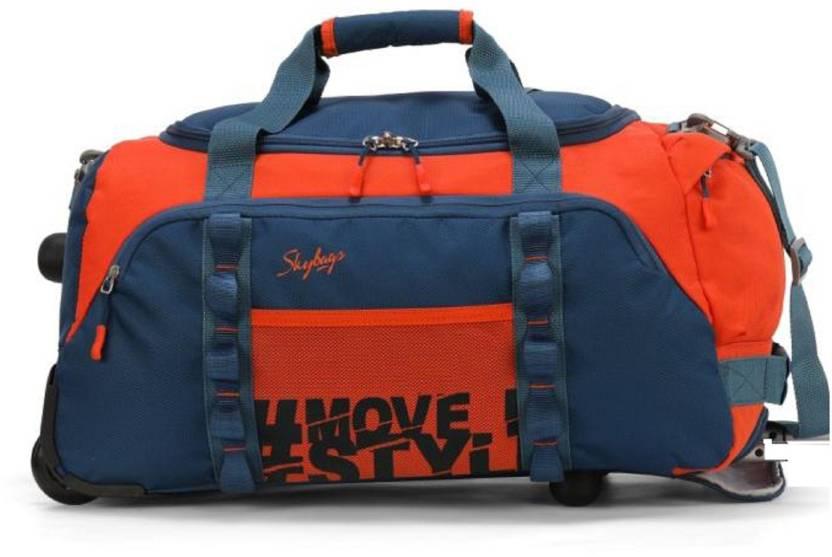 Skybags HUSTLE DUFFLE 55 ORANGE SMALL SIZE Travel Duffel Bag ORANGE ... 274127e8de349