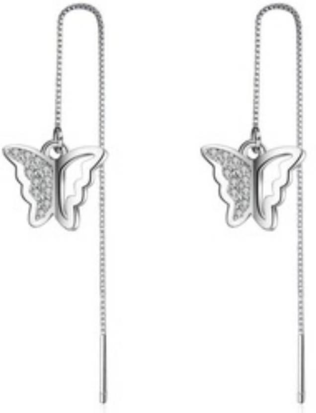 41913416a8043 Flipkart.com - Buy MYKI Fancy Butterly Cubic Zircon Long Earrings ...