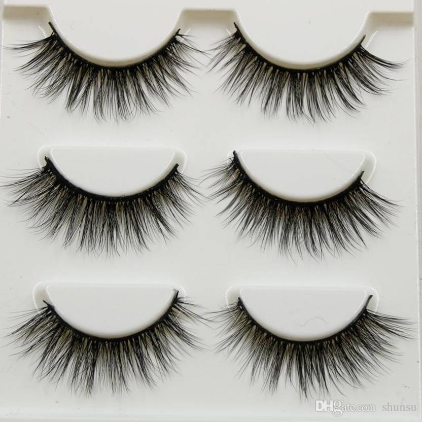 ee98d869d2a Perfect shopo 3 Pairs Makeup Beauty False Eyelashes Extension Long Thick  (Pack of 3)