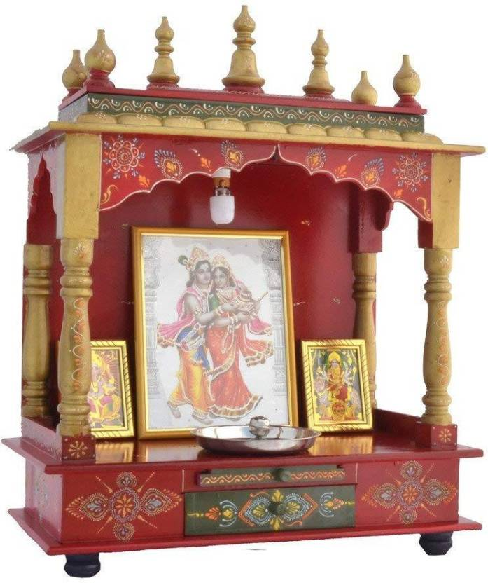 c8b448251 Marusthalee Rajasthani Wooden Temple with LED light Wooden Home Temple  (Height: 75 cm)