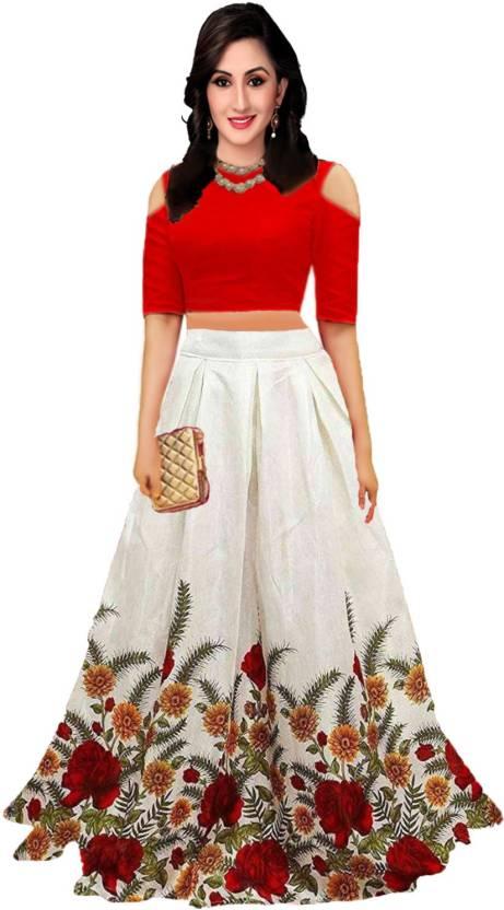 696eefd9dd9 shelvinzas Floral Print Semi Stitched Lehenga Choli - Buy shelvinzas ...