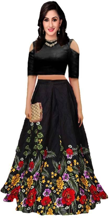 d9bd2ea99c shelvinzas Floral Print Semi Stitched Lehenga Choli - Buy shelvinzas ...