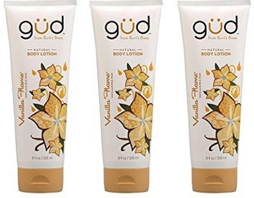 8aa057953 Burt's Bees Gud Organic Natural Vanilla Flame Body Lotion-3Oz Tubes (3 Pack)  (88.72 ml)
