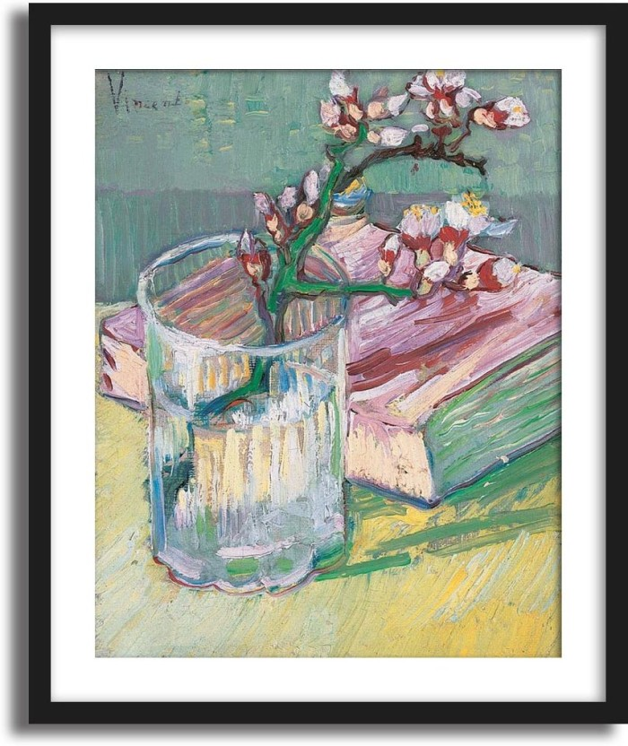 Blossoming Almond Branch in a Glass Vincent Van Gogh Art Print Poster 1888
