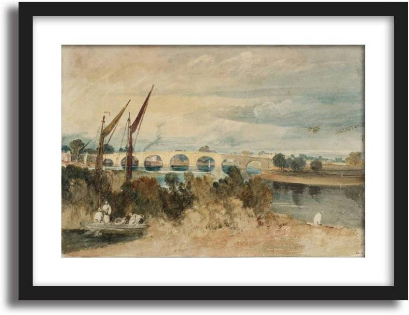 ArtCentral The River Thames and Kew Bridge, with Brentford Eyot in ...