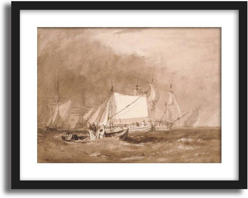 Artcentral Shipping Scene With Fishermen 1815 20 Painting By Jmw