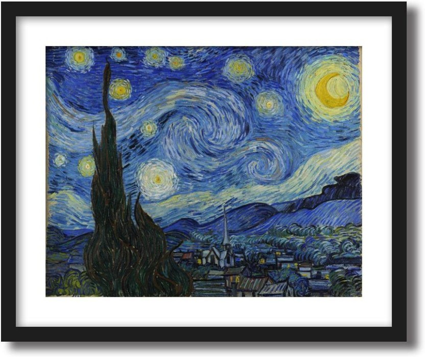 picture relating to Starry Night Printable referred to as ArtCentral Starry Evening, 1889 Portray By means of Vincent Van Gogh