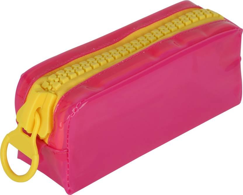 bbd71a2ebe25 Chrome 6547 Zipper Transparent Art Plastic Pencil Box (Set of 1