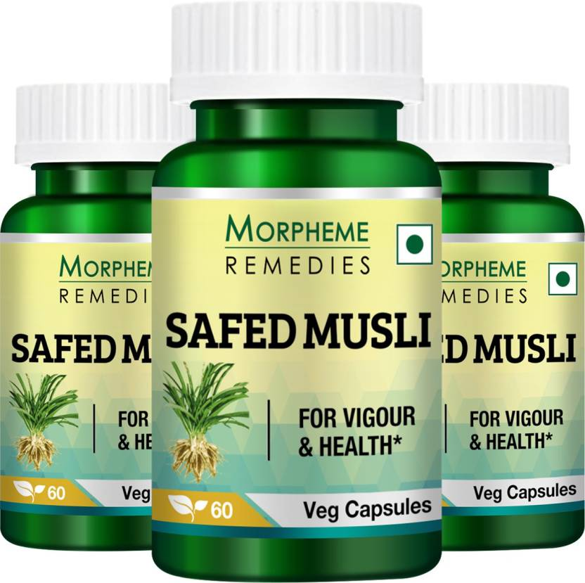 Morpheme Remedies Safed Musli Extract 500 mg (Pack Of 3) Price in ...