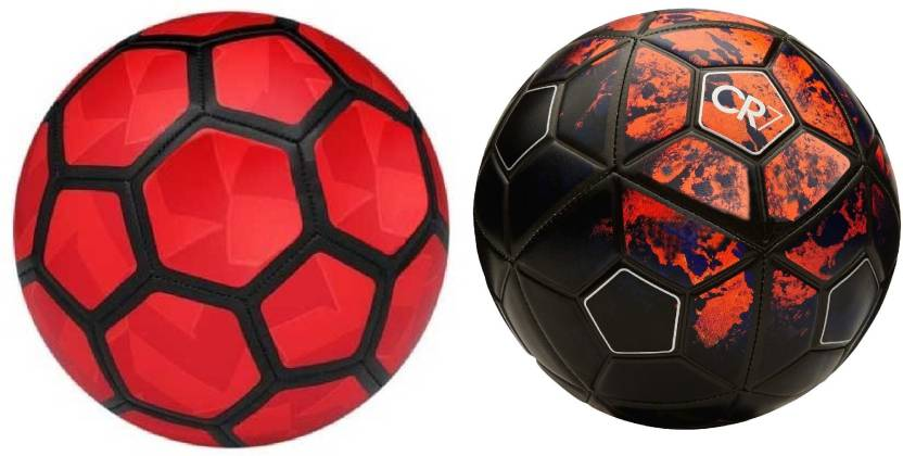 541b274e0ffa6b Retail World Strike Duro Red Football (Size-5) + CR7 Red Black ...