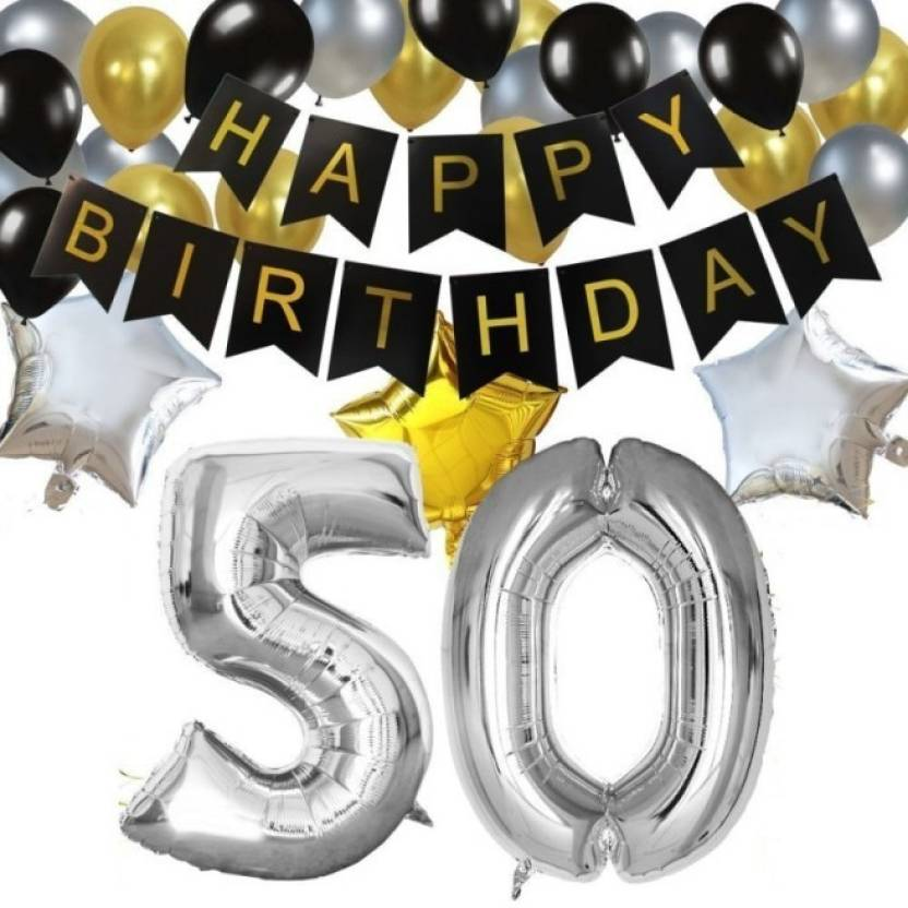 Theme My Party Birthday Decorations Kit For 50th