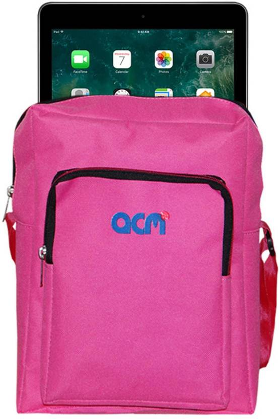 ACM Pouch for Apple Ipad 9.7 2017 A1822 Dark Pink, Cases with Holder