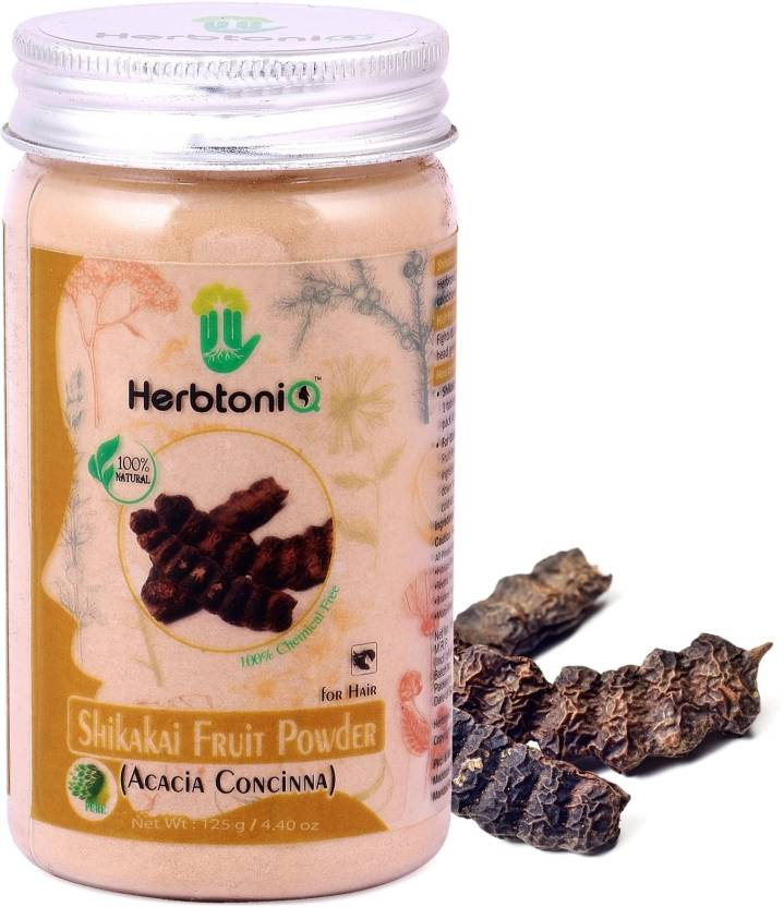 Herbtoniq 100 Natural Shikakai Fruit Powder For Hair Pack Acacia