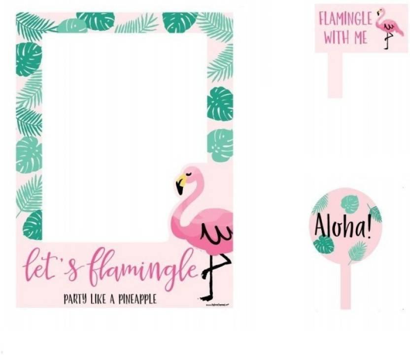 Theme My Party Photo Frame For Your Birthday/Party - Flamingo Photo ...