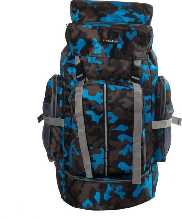 Indian Riders Hiking Lightweight 50 Ltrs Backpack Rucksack Bag - Camo  Printed Bag 22