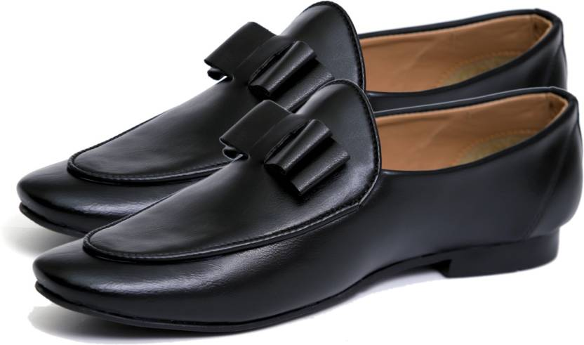 d37bf2332e733 Hush Berry Class Professional Bow Tassel Loafer Shoes For Loafers For Men  (Black)