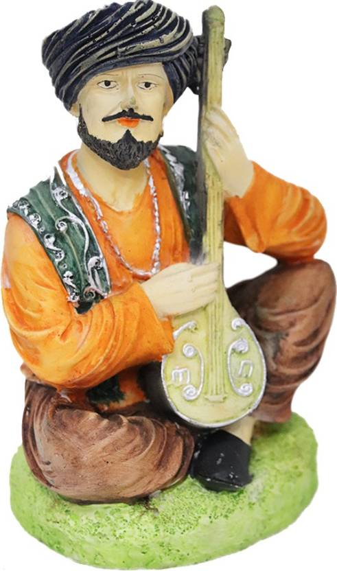 Fabzone Traditional Rajasthani Cultural Man With Sitar Figurine