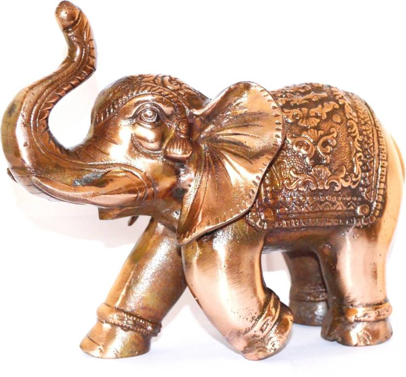 Pin to Pen Metal Medium Elephant Figure Decorative Showpiece